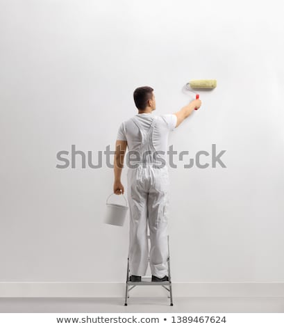 Decorator standing on a ladder Stock photo © photography33