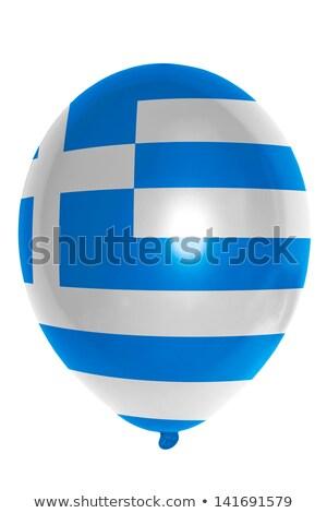 Ballon Grieks vlag Blauw witte Stockfoto © experimental