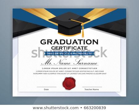 Graduate Certificate Stock photo © limbi007