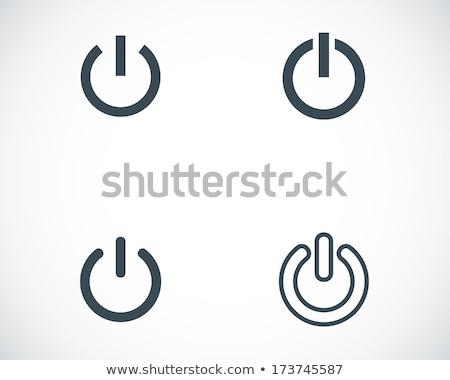poder · botón · icono · rojo · aislado · blanco - foto stock © zeffss