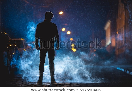 Dangereux homme noir fusil affaires Photo stock © grafvision