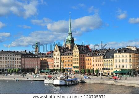 Stockholm · Svédország · óváros · építészet - stock fotó © Estea