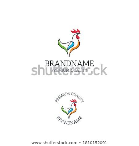 Kakas terv madár piros sziluett ázsiai Stock fotó © creative_stock