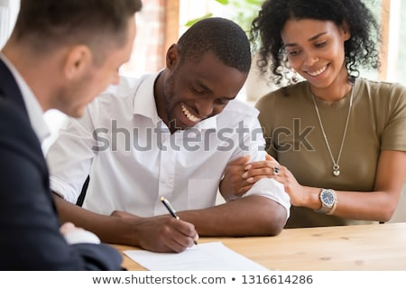 Couple meeting a realtor Stock photo © photography33