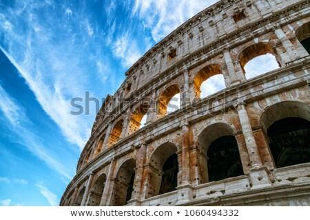 Detalhes Roma Itália edifício café ruínas Foto stock © bigjohn36
