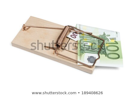Stok fotoğraf: Mouse Trap With 100 Euro Bank Note