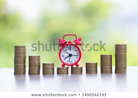 il · tempo · è · denaro · clock · dollari · guardare · contanti · finanziaria - foto d'archivio © mikko