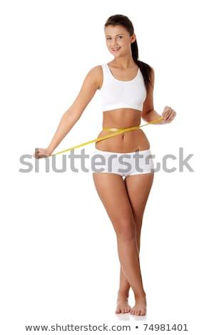 Mooie vrouwelijke lichaam ondergoed geïsoleerd witte Stockfoto © imarin