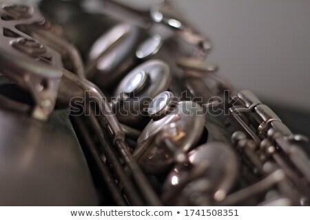 серебро саксофон изолированный черный звук белый Сток-фото © jonnysek