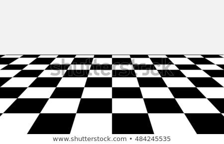 перспективы полу шаблон черно белые геометрический Сток-фото © Lightsource