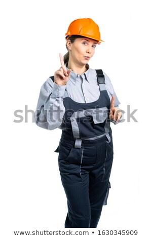 Arquiteto construtor mulher homem feliz Foto stock © photography33