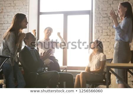muhteşem · eğitim · görüntü · kadın · başparmak - stok fotoğraf © pressmaster