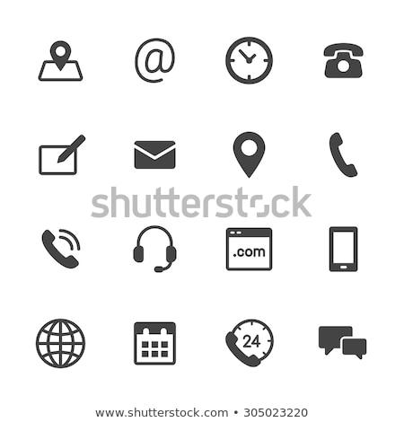 email · háló · interfész · ikon · fehér · átlátszó - stock fotó © make