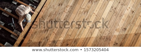 Stock photo: Wood Deck Construction