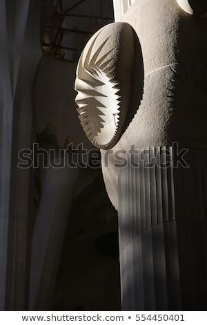 modern · templom · bent · épület · kereszt · üveg - stock fotó © dinozzaver