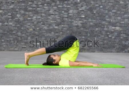 Porträt · gesunden · Yoga · Ausübung · Frau - stock foto © HASLOO