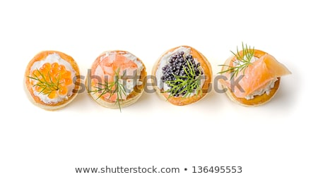 Foto stock: Assortment Of Puff Pastries Appetizer