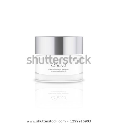 Jar of face cream isolated on white background with reflection Stock photo © shutswis