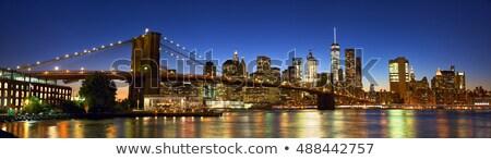 panorama · verlagen · Manhattan · schemering · New · York · City · uitwisseling - stockfoto © backyardproductions