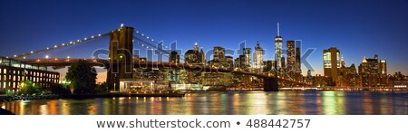 inşaat · vinç · akşam · karanlığı · siluetleri · köprü · renkli - stok fotoğraf © backyardproductions