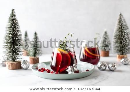 Natale · bere · vetro · tavola · party · inverno - foto d'archivio © ruthblack
