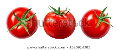 Stockfoto: Tomaat · nat · geïsoleerd · witte · achtergrond · landbouw