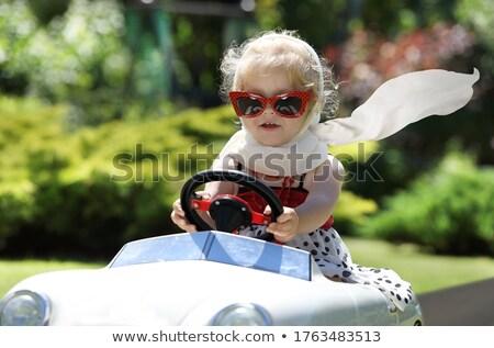 çift · sürücü · yeşil · araba · sevmek · seyahat - stok fotoğraf © luminastock