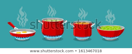 Pot brand water toeristen ketel hot Stockfoto © Hermione