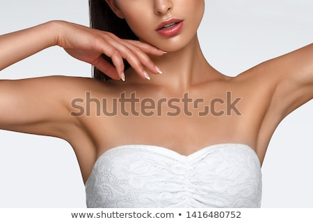 ince · bronzlaşmış · vücut · yalıtılmış · beyaz · seksi - stok fotoğraf © studiotrebuchet