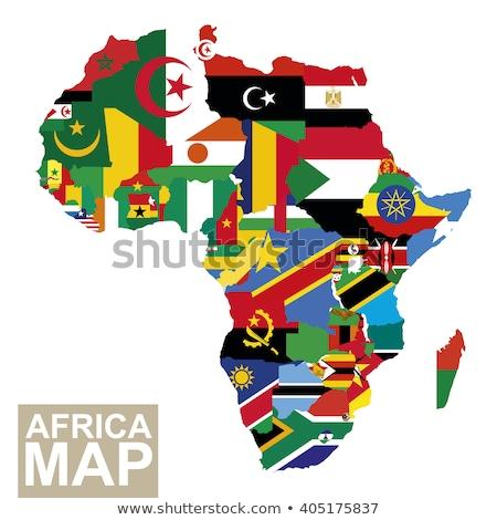 Bandera África mapa Botswana país botón Foto stock © Ustofre9