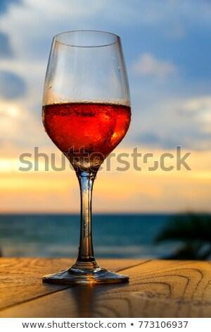 Citromsárga rózsa borospohár konyha ablak virág Stock fotó © rcarner
