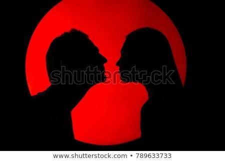 луна · планеты · любви · целоваться · другой · Sexy - Сток-фото © flogel