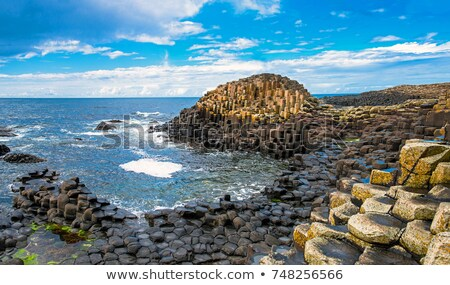 nord · Irlande · lave · roches · formation - photo stock © luissantos84