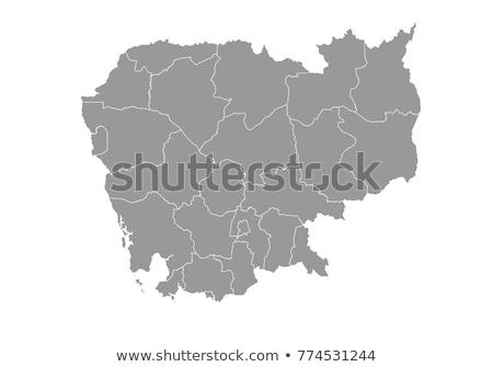 Délkelet-Ázsia · politikai · térkép · földgömb · illusztráció · izolált - stock fotó © volina