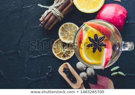 Autunno frutti star anice mela colazione Foto d'archivio © M-studio