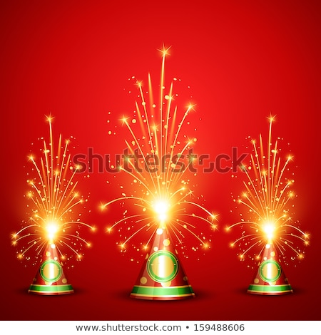 beautiful glowing festival cracker on artistic design vector stock photo © bharat