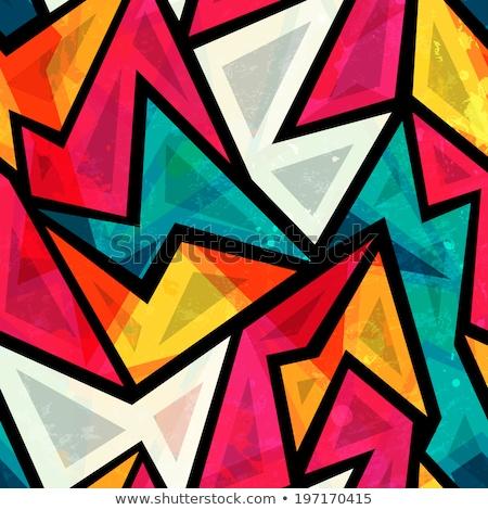 resumen · orador · silueta · cartas · cabeza · boca - foto stock © olgaaltunina