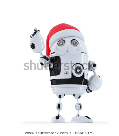 robot santa pointing up stock photo © kirill_m