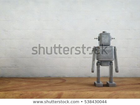 Android robot with squared digital camera Stock photo © Kirill_M