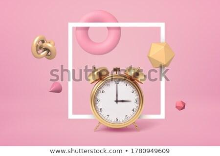 Foto stock: Tiempo · trabajo · reloj · brillante · metal · marco