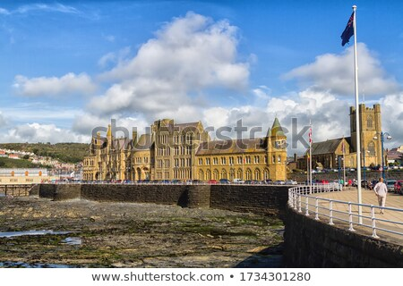 Aberystwyth seaside town North beach in Wales UK. Stock photo © latent