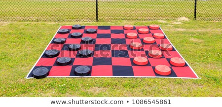 Giant outdoor checkers Stock photo © Elenarts