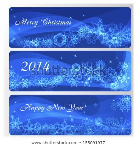 набор · веб · Баннеры · зима · праздник · празднования - Сток-фото © bharat