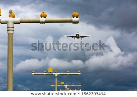Aeroporto aterrissagem luzes avião pista iluminação Foto stock © franky242