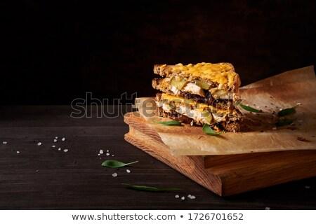 Magvak sötét fából készült vágódeszka puha fókusz Stock fotó © TheFull360
