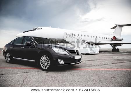 Moderno luxo executivo carro branco assinar Foto stock © Supertrooper
