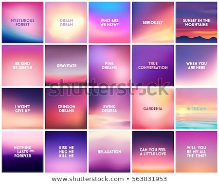 Abstract Vector Sky Backdrop Gradient Mesh Stok fotoğraf © MarySan