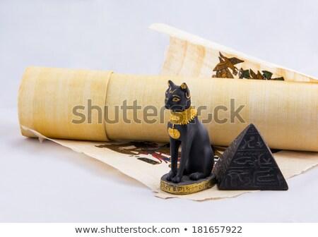 Egípcio gato papiro ilustração Foto stock © MasaMima