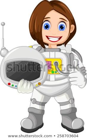 feminino · espaço · lua · estrela · desenho · animado - foto stock © rpcreative