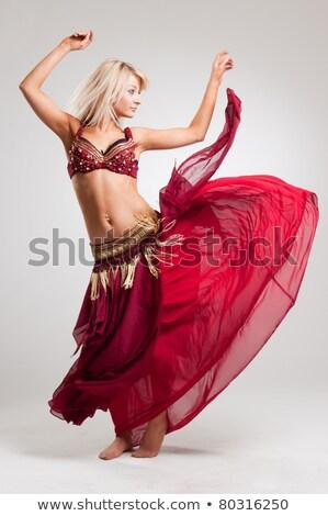 Attractive woman performing arabic dance Stock photo © Nejron